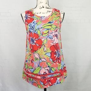 Basic Editions Women Tank Top Tunic S Floral NWOT
